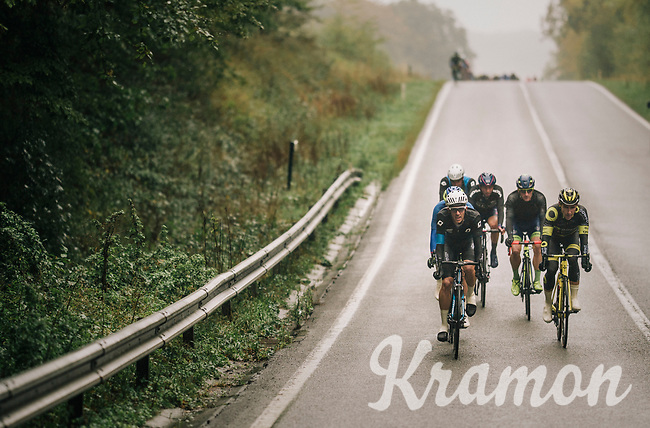 trying to slip away...<br /> <br /> 2018 Binche - Chimay - Binche / Memorial Frank Vandenbroucke (1.1 Europe Tour)<br /> 1 Day Race: Binche to Binche (197km)