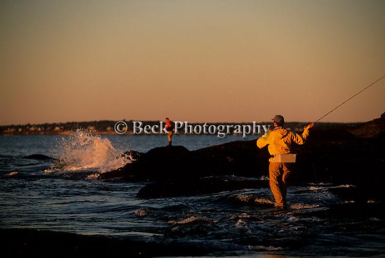 PETER JENKINS AND KEN ABRAMES FLY FISHING IN RHODE ISLAND