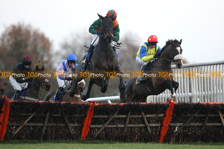 Indian River ridden by Andrew Thornton in jumping action during the January 1st 2012 Racing at Fakenham Novices Hurdle at Fakenham Racecourse, Norfolk - 12/12/11 - MANDATORY CREDIT: Gavin Ellis/TGSPHOTO - Self billing applies where appropriate - 0845 094 6026 - contact@tgsphoto.co.uk - NO UNPAID USE.