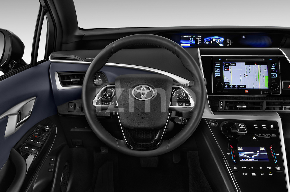 Car pictures of steering wheel view of a 2016 Toyota Mirai Mirai 4 Door Sedan Steering Wheel