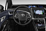 Car pictures of steering wheel view of a 2016 Toyota Mirai Mirai 4 Door Sedan Steering Wheel