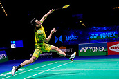 18th March 2018, Arena Birmingham, Birmingham, England; Yonex All England Open Badminton Championships; Lin Dan (CHN) in the mens singles  final against Shi Yuqi (CHN)