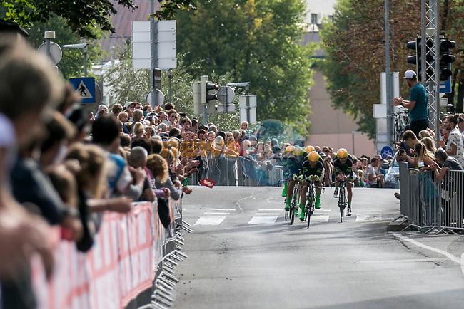 Men's Elite Team Time Trial of the 2018 UCI Road World Championships running 62.8km from Ötztal to Innsbruck, Innsbruck-Tirol, Austria 2018. 23rd September 2018.<br /> Picture: Innsbruck-Tirol 2018 | Cyclefile<br /> <br /> <br /> All photos usage must carry mandatory copyright credit (© Cyclefile | Innsbruck-Tirol 2018)