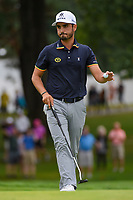 Abraham Ancer (MEX) after sinking his putt on 1 during Rd4 of the 2019 BMW Championship, Medinah Golf Club, Chicago, Illinois, USA. 8/18/2019.<br /> Picture Ken Murray / Golffile.ie<br /> <br /> All photo usage must carry mandatory copyright credit (© Golffile | Ken Murray)