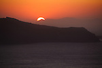 Sunset looking toward Oia, Santorini, Greece