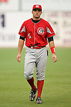 Chattanooga Lookouts first baseman Joey Votto gets loose prior to taking on the Birmingham Barons at Hoover Metropolitan Stadium in Birmingham, AL, Sunday, August 20, 2006.