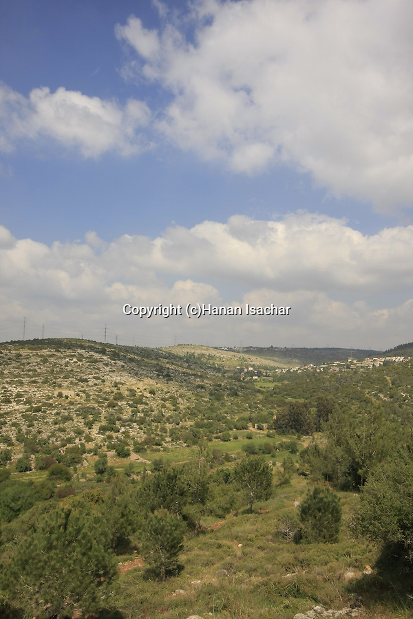 Israel, Jerusalem Mountains, a view from Hurvat Hanut