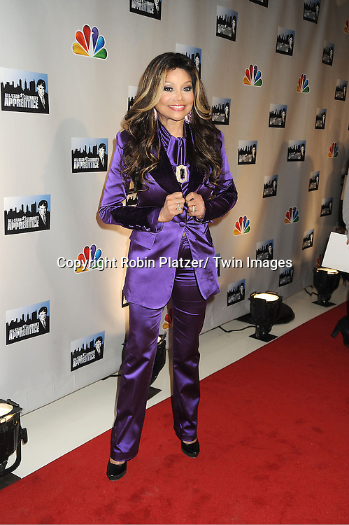 La Toya Jackson attends the All-Star Celebrity Apprentice announcement on October 12, 2012 at Jack Studio in New York City. .The celebrity apprentices are Trace Adkins,  Stephen Baldwin, Gary Busey, Penn Jillette, Lil Jon, Bret Michaels, Dennis Rodman, Dee Snider, Marilu Henner, La Toya Jackson, Claudia Jordan, Omarosa, Lisa Rinna and  Brande Roderick.