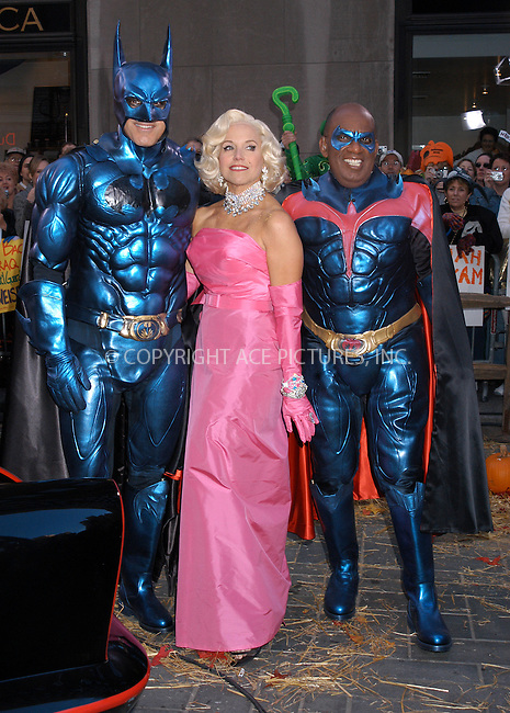 WWW.ACEPIXS.COM . . . . . ....NEW YORK, OCTOBER 31, 2005....Matt Lauer, Katie Couric and Al Roker get dressed for The Today Show Halloween edition.....Please byline: KRISTIN CALLAHAN - ACE PICTURES.. . . . . . ..Ace Pictures, Inc:  ..Craig Ashby (212) 243-8787..e-mail: picturedesk@acepixs.com..web: http://www.acepixs.com