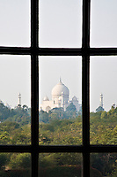 View of the Taj Mahal from a window at the Oberoi Amarvilas. (Photo by Matt Considine - Images of Asia Collection)