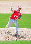 29 February 2016: Washington Nationals pitcher A.J. Cole on the mound during an inter-squad pre-season Spring Training game at Space Coast Stadium in Viera, Florida. Mandatory Credit: Ed Wolfstein Photo *** RAW (NEF) Image File Available ***