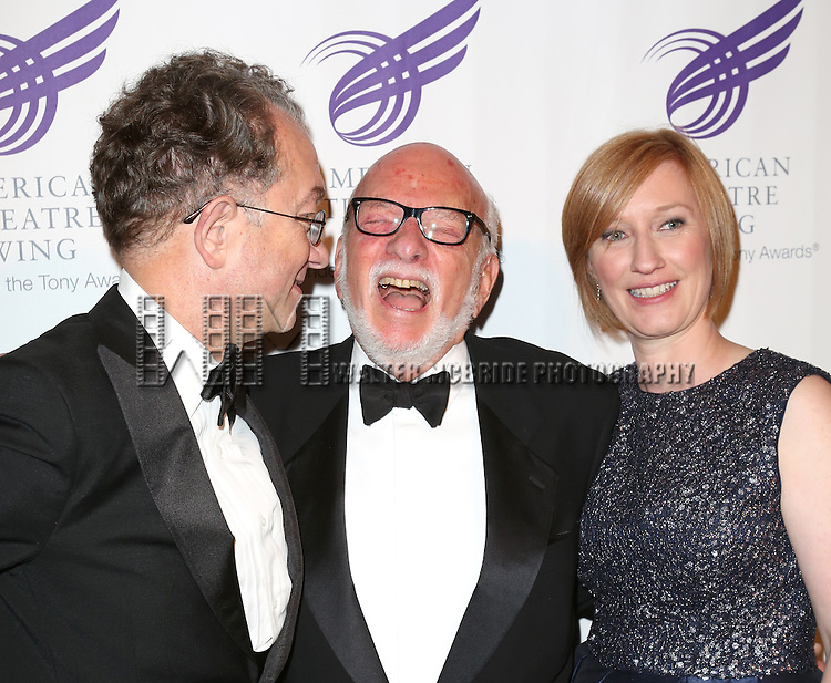William Ivey Long, Hal Prince and Heather Hitchens attending the The 2013 American Theatre Wing's Annual Gala honoring Harold Prince at the Plaza Hotel in New York City on September 16, 2013
