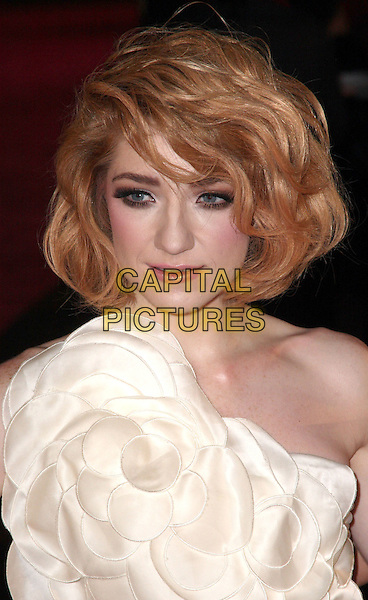 "NICOLA ROBERTS (GIRLS ALOUD).The UK Film Premiere of ""St. Trinian's 2: The Legend Of Fritton's Gold"" at Empire Leicester Square, London, England..December 9th 2009.Trinians St arrivals headshot portrait white one shoulder corsage.CAP/JIL.©Jill Mayhew/Capital Pictures"