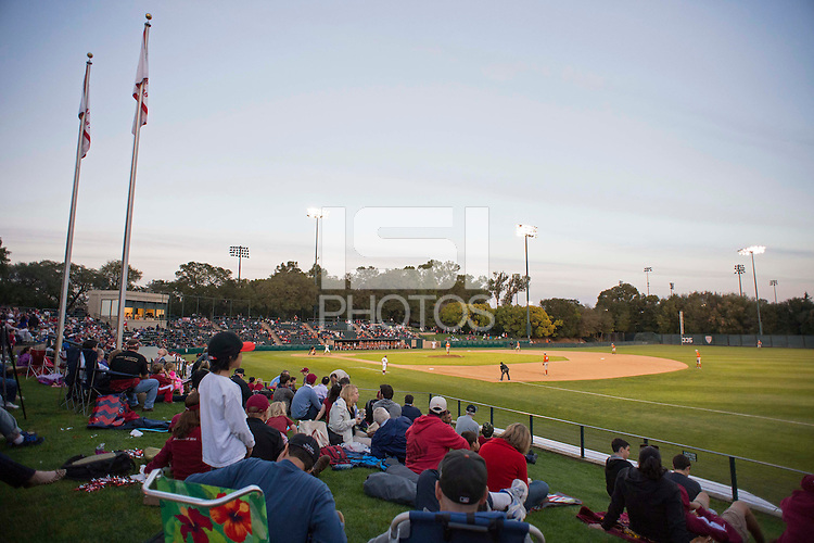 Stanford, CA - Friday, March 1, 2013: Stanford Cardinal fans watch during the NCAA baseball game against the Texas Longhorns.