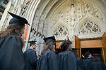 Prospective graduates process into Duke Chapel for Baccalaureate Service.