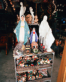 PANAMA, PANAMA, Bocas del Toro, religious icons and other chotchkie's for sale on Main Street, Central America