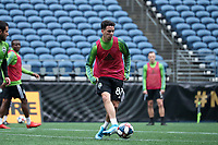 SEATTLE, WA - NOVEMBER 9: Alfonso Ocampo-Chavez #87 of the Seattle Sounders FC at CenturyLink Field on November 9, 2019 in Seattle, Washington.