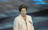 SAO PAULO, SP, 01 DE DEZEMBRO - SORTEIO CHAVE COPA DAS CONFEDERACOES A presidente da Republica Dilma Rousseff durante sorteio dos grupos para Copa das Confederaçoes 2013 Anhembi Park regiao norte da capital paulista.  FOTO: VANESSA CARVALHO - BRAZIL PHOTO PRESS.