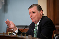 United States Representative Tom Cole (Republican of Oklahoma), ranking member, US House Appropriations Subcommittee on Labor, Health and Human Services, Education, and Related Agencies, speaks during a hearing on Capitol Hill in Washington, D.C., U.S., on Thursday, June 4, 2020. <br /> Credit: Al Drago / Pool via CNP/AdMedia
