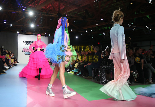 LOS ANGELES, CA - MARCH 8: Models, at Christian Cowan x The Powerpuff Girls_Show at City Market Social House in Los Angeles, California on March 8, 2019.   <br /> CAP/MPI/SAD<br /> ©SAD/MPI/Capital Pictures