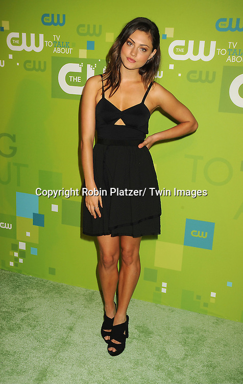Phoebe Jane Tonkin attending The CW 2011 Upfront on May 19, 2011 at Jazz at Lincoln Center in New York City.