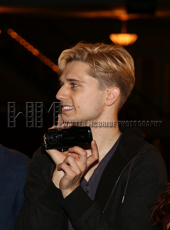Andy Mientus during the Actors' Equity 'Spring Awakening Gypsy Robe Ceremony honoring Van Hughes at the Brooks Atkinson Theatre on September 27, 2015 in New York City