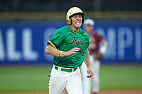 Eric Gilgenbach (15) of the Notre Dame Fighting Irish hustles towards third base against the Florida State Seminoles in Game Four of the 2017 ACC Baseball Championship at Louisville Slugger Field on May 24, 2017 in Louisville, Kentucky. The Seminoles walked-off the Fighting Irish 5-3 in 12 innings. (Brian Westerholt/Four Seam Images)