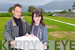 Mike and Cait Duggan plan looking at the plans for the graves at Aghadoe Lawn Cemetery which are up for sale