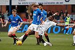 09.12.2018 Dundee v Rangers: Jordan Rossiter and Joe Worrall with Genseric Kusunga