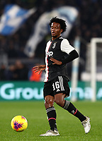 Football, Serie A: S.S. Lazio - Juventus Olympic stadium, Rome, December 7, 2019. <br /> Juventus' Juan Cuadrado in action during the Italian Serie A football match between S.S. Lazio and Juventus at Rome's Olympic stadium, Rome on December 7, 2019.<br /> UPDATE IMAGES PRESS/Isabella Bonotto