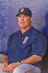 8 March 2015: Boston Red Sox Manager John Farrell awaits the start of a Spring Training game against the New York Mets at Tradition Field in Port St. Lucie, Florida. The Mets fell to the Red Sox 6-3 in Grapefruit League play. Mandatory Credit: Ed Wolfstein Photo *** RAW (NEF) Image File Available ***