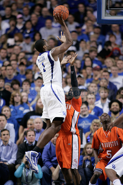 UK guard Darius Miller puts the ball up against Sam Houston State at Rupp Arena Thursday night. Photo by Scott Hannigan | Staff