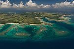 Aerial - Reefs near Nacula island