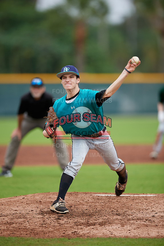 Colby Gardner (60) of Dover, Delaware during the Baseball Factory Pirate City Christmas Camp & Tournament on December 29, 2018 at Pirate City in Bradenton, Florida. (Mike Janes/Four Seam Images)