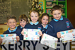 Pupils at Ardfert National School  have been busy making Christmas cards to sell to family and friends to raise funds for the school. .L-R Nathan O'Driscoll, Darragh Courtney, Jessica Murphy, Claudia Murphy and Cian McDonagh