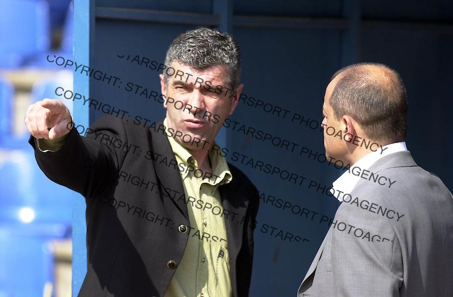 SPORT FUDBAL OFK BEOGRAD VOJVODINA Smiljanic i Kuzmanoski 3.4.2004. foto: Pedja Milosavljevic<br />