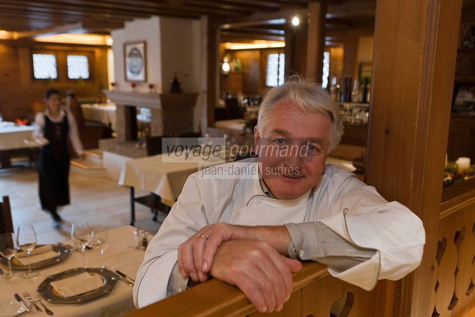 Europe/Suisse/Saanenland/Gstaad: Robert Speth, chef du restaurant: Chesery, Chesery Platz [Non destiné à un usage publicitaire - Not intended for an advertising use]