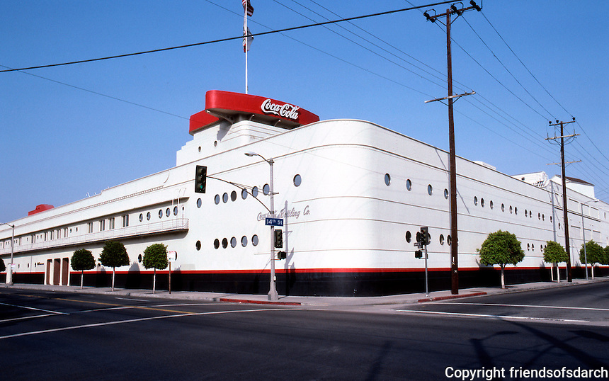 Los Angeles: Coca-Cola Bottling Co. 1936-37. (In 1986--an award for its conversion from bottling plant to office.) Photo '86.