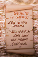 Europe/France/2A/Corse du Sud/Bonifacio: Enseigne de la Boulangerie Faby