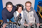 DJS: Learning the ropes in becoming a DJ for Radio at Radio Kerry on Friday under the supervision of John Herlihy (Radio Kerry) were; l-r: John Herlihy, Sinead Prendergast and Cathal Joyce...........