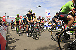 The peloton including Edvald Boasson Hagen (NOR) Team Dimension Data summit the Cat 3 climb of Cote d'Eschdorf during Stage 3 of the 104th edition of the Tour de France 2017, running 212.5km from Verviers, Belgium to Longwy, France. 3rd July 2017.<br /> Picture: Eoin Clarke | Cyclefile<br /> <br /> All photos usage must carry mandatory copyright credit (&copy; Cyclefile | Eoin Clarke)
