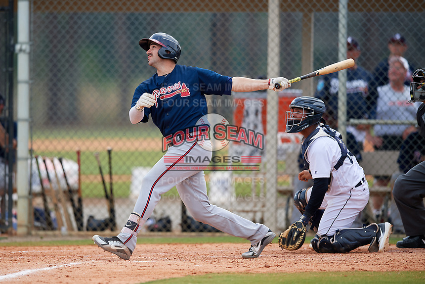Atlanta Braves Sal Giardina (38) during a Minor League Spring Training game against the Detroit Tigers on March 19, 2018 at the TigerTown Complex in Lakeland, Florida.  (Mike Janes/Four Seam Images)