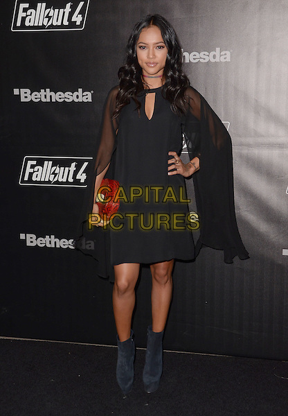 05 November - Los Angeles, Ca - Karrrueche Tran. Arrivals for the official launch party of the video game &quot;Fallout 4&quot; held at a private location in Downtown LA.  <br /> CAP/ADM/BT<br /> &copy;BT/ADM/Capital Pictures