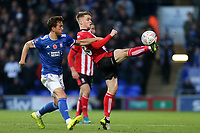 Will Keane of Ipswich Town and Jake Hesketh of Lincoln City during Ipswich Town vs Lincoln City, Emirates FA Cup Football at Portman Road on 9th November 2019