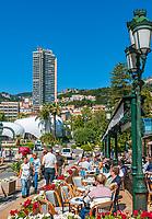 Fuerstentum Monaco, an der Côte d'Azur, Stadtteil Monte Carlo: Brasserie le Café de Paris   Principality of Monaco, on the French Riviera (Côte d'Azur), district Monte Carlo: Brasserie le Café de Paris