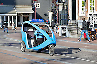 Nederland Amsterdam 2016 02 17. Biketaxi in Amsterdam centrum. Foto Berlinda van Dam / Hollandse Hoogte