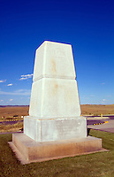 Memorial at Cemetery of Little Bighorn, scene of Custers Last Stand Battlefield,  National Cemetery, Montana, USA (June 25 1876)