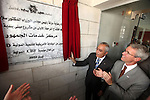 Palestinian Prime minister Salam Fayyad, attends the opening of service center of public in the West Bank city of Jericho on June 20, 2012.. Photo by Mustafa Abu Dayeh