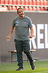 Frank Schmidt, Trainer (FC Heidenheim), aergert sich, Geste,<br /> <br /> GER, FC Heidenheim vs. Werder Bremen, Fussball, Bundesliga Religation, 2019/2020, 06.07.2020,<br /> <br /> DFB/DFL regulations prohibit any use of photographs as image sequences and/or quasi-video., <br /> <br /> <br /> Foto: EIBNER/Sascha Walther/Pool/gumzmedia/nordphoto