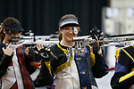 COLUMBUS, OH - MARCH 11: Elizabeth Gratz of West Virginia University waves to fans during the Division I Rifle Championships held at The French Field House on the Ohio State University campus on March 11, 2017 in Columbus, Ohio. (Photo by Jay LaPrete/NCAA Photos via Getty Images)